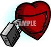 Lock on a Heart clipart