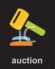 Auction Icon with a Gavel  clipart
