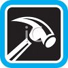 Tool Icon of a Hammer clipart