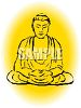 Drawing of a Buddha clipart
