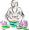 Buddha Design with Lotus Flowers clipart