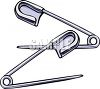 Diaper or Safety Pins clipart