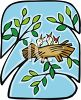 Baby Birds in a Nest clipart