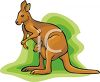 Kangaroos-Joey in His Mother's Pouch clipart