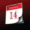 Holiday Calendar Page for February 14-Valentine's Day clipart