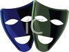 Comedy and Comedy Theater Masks clipart