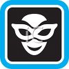 Icon for Theater Showing a Face Wearing an Eye Mask clipart