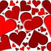 Red Heart Shapes Background clipart