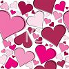 Pink Heart Shapes Background clipart