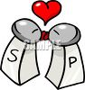 Salt and Pepper Shakers Kissing clipart