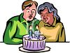 Couple Celebrating Their 10th  Anniversary clipart