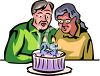 Couple Celebrating Their 25th Anniversary clipart