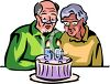 Couple Celebrating Their 50th Anniversary clipart