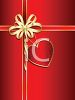 Present Gift Wrapped in Red with a Gold Bow clipart