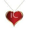 Heart Shaped Pendant on a Necklace clipart