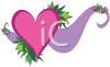 Whimsical Valentine Heart with a Swoosh clipart