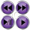 Glossy Button Set for Playing a Media Device clipart