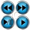 Direction Buttons for Media Player clipart