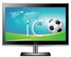 HD Television with a Soccer Game On clipart