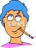 Cartoon of a Boy Thinking While Chewing on a Pencil clipart