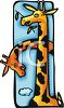 Giraffe Chewing on a Branch clipart