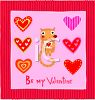 Be My Valentine Card Design clipart