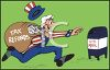 Uncle Sam Putting Tax Refunds in the Mail clipart