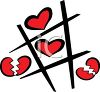 Tic Tac Toe Game with Hearts clipart