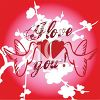 I Love You Background with Doves and Hearts clipart