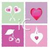 Heart Design Tiles for Valentine's clipart