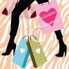 Woman Shopping for Valentine's Day clipart