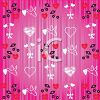Valentine Background with Hearts and Cherries clipart