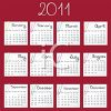 Calendar for 2011 with Each Month Separate clipart