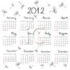 Whimsical Calendar for 2012 clipart