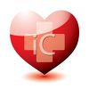 Heart Shape with the Red Cross Symbol  clipart