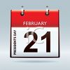 Calendar Page for February 21st - Presidents Day clipart