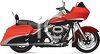 Realistic Red Touring Bike clipart