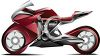 Realistic Red Racing Street Bike clipart