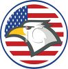 Bald Eagle Patriotic Decal clipart