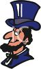 Cartoon of  Abraham Lincoln clipart