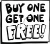 Buy One Get One Free Sign clipart