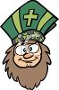 Cartoon of Saint Patrick clipart