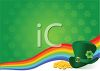 St Patrick's Day Background with a Rainbow and Leprechaun Hat clipart