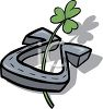 Clover in a Horseshoe clipart