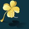 Gold Four Leaf Clover clipart