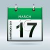 Calendar Page Turned to March 17 clipart