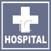 Hospital Sign with a Cross clipart