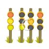 Traffic Reflectors  clipart
