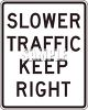 Slower Traffic Keep Right Sign clipart