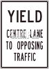 Yield  Center Lane to Opposing Traffic Sign clipart